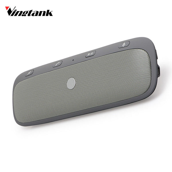 Vingtank Universal Wireless Car Bluetooth Speakerphone Hands-free Car Kit Sunvisor In-Car Speaker Player Car Charger Speaker