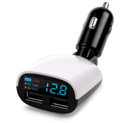 Dual USB Car Charger 5V 3.4A Car Voltage Diagnostic LED Screen Car Charging Adapter 2.4A+1A Charge For Mobile Phone Charger