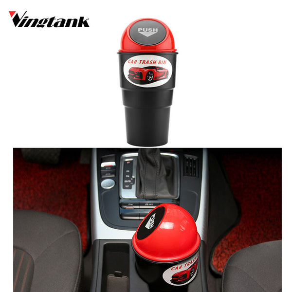 Vingtank universal Car garbage can Car Auto Trash Can Garbage Dust Case Holder Bin for Ford Volkswagen car black storage bucket
