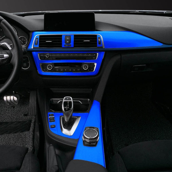 Interior Central Control Console Outlet Panel Carbon Fiber Protection Film Sticker Decal Car Styling For BMW F30 F35 Accessories