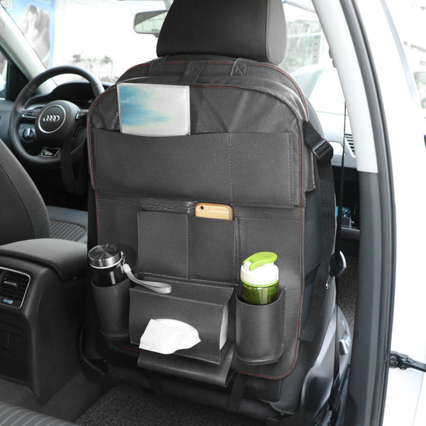Onever Auto Accessories Car Seat  Back Organizer PU Leather Car-covers Car Accessories Car-styling Multi-Pockets Travel Storage