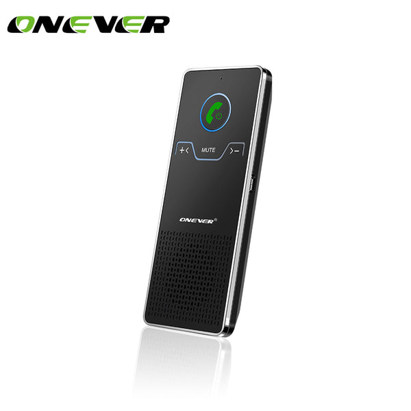 Onever Wireless Handsfree Bluetooth Car Kit Hands Free Calling Transmitter Car Speakerphone With Car Charger