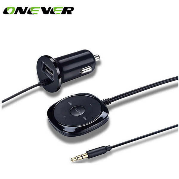 Onever Bluetooth 4.0 Wireless Music Receiver 3.5mm Adapter Handsfree Car Kit AUX Speaker 3.5 mm Jack for Car Speaker Car Charger