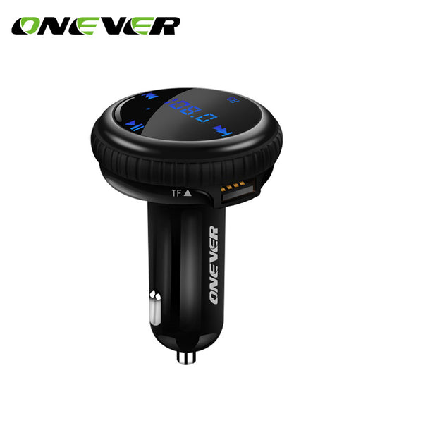 New FM Transmitter Bluetooth Modulator Hands Free Car Kit with Car GPS Location Tracking Car MP3 Audio Player USB Charger LED