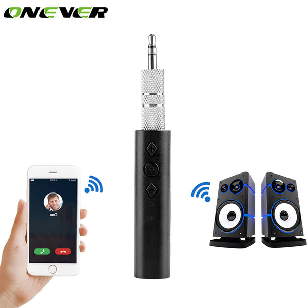 Onever Car Universal 3.5mm Jack Bluetooth Car Kit Music Audio Receiver Adapter Auto AUX Streaming A2DP For Speaker Headphone Car