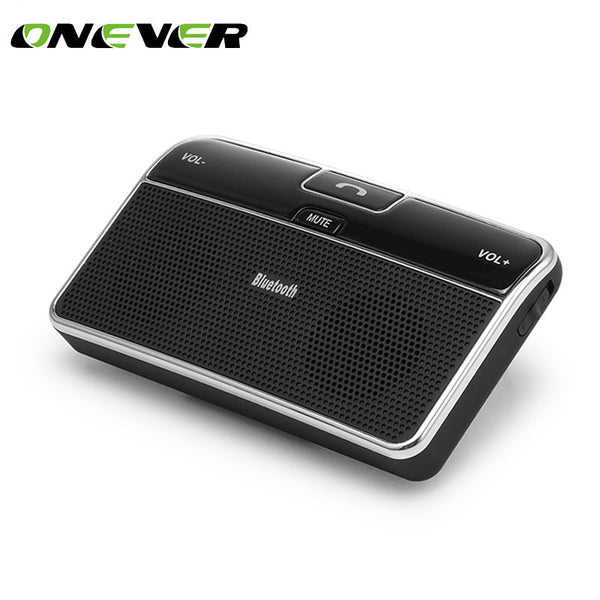 Onever Universal Wireless Car Bluetooth Speakerphone Hands-free Car Kit Sunvisor Clip Speaker Player with Car Charger Speaker