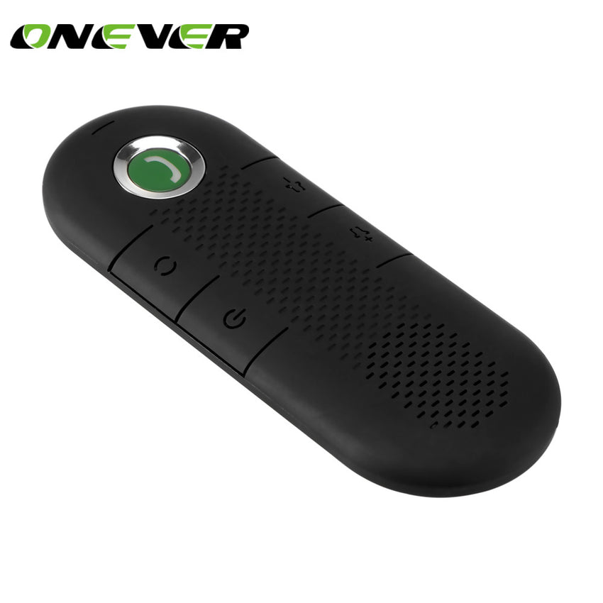 Onever Wireless Magnetic  Sunvisor Car Bluetooth Speakerphone Hands-free Car Kit In-Car Speaker Player for iPhone 8 7 Plus Samsu