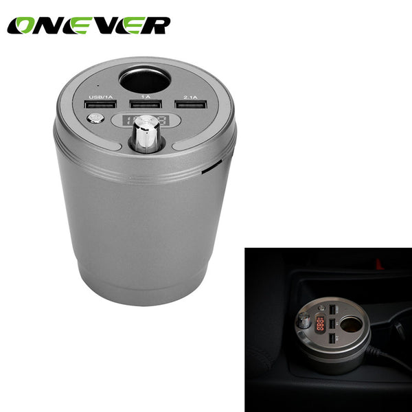 Onever Car Filled with FM Transmitter Tuner Energy Cup Car Bluetooth hands - free Car Bluetooth usb Charger For Iphone 8 Plus