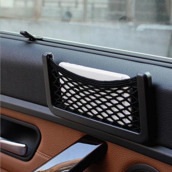 Onever Car Styling New Brand 1pcs Car Storage Net Automotive Pocket Organizer Bag For Mobile Phone Holder 15X8CM Car Accessories