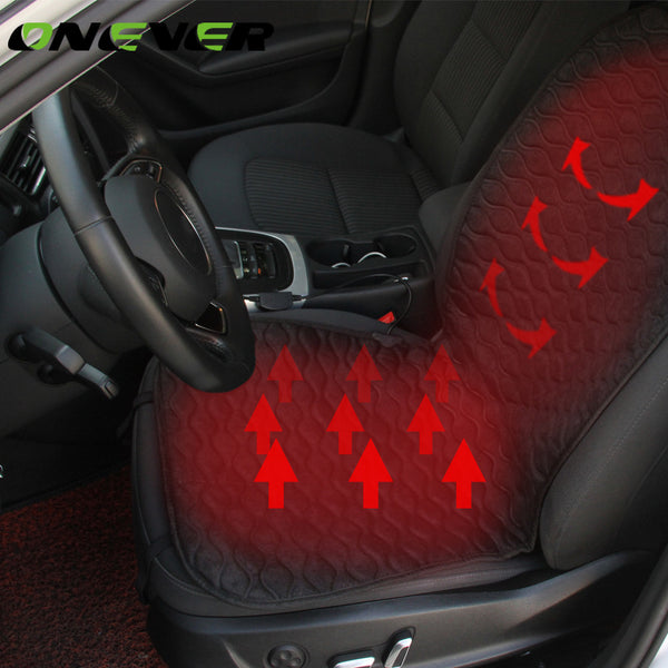 Onever Heated car seat Cushion Winter Car seat Pad Car Heated Seat Covers with HI/LO Mode for Cold Weather and Winter Driving