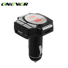 Onever 2017 New Car Bluetooth Speakerphone USB Car Charger For Iphone 8 Car MP3 Player Cigarette Lighter