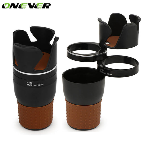 Onever Car Phone Holder Car Storage Box Organizer Drink Phone Holder 360 Degree Rotation Sunglass Pen Coins Drink Holder For Car