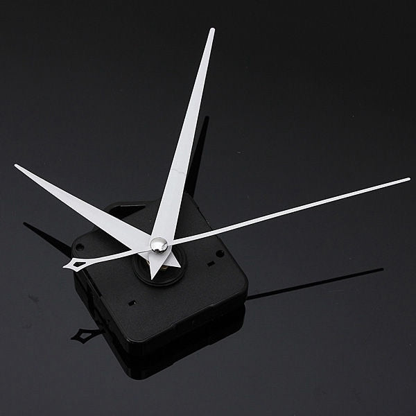 Car White Triangle Hands DIY Quartz Black Wall Clock Movement Mechanism Repair Part