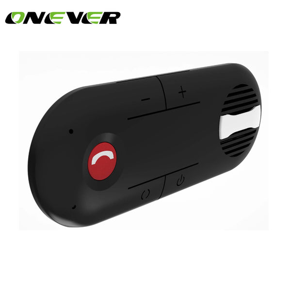 Onever Wireless Car Bluetooth Speakerphone Hands-free Car Kit Music Player Clip On Sunvisor speaker with Car Charger