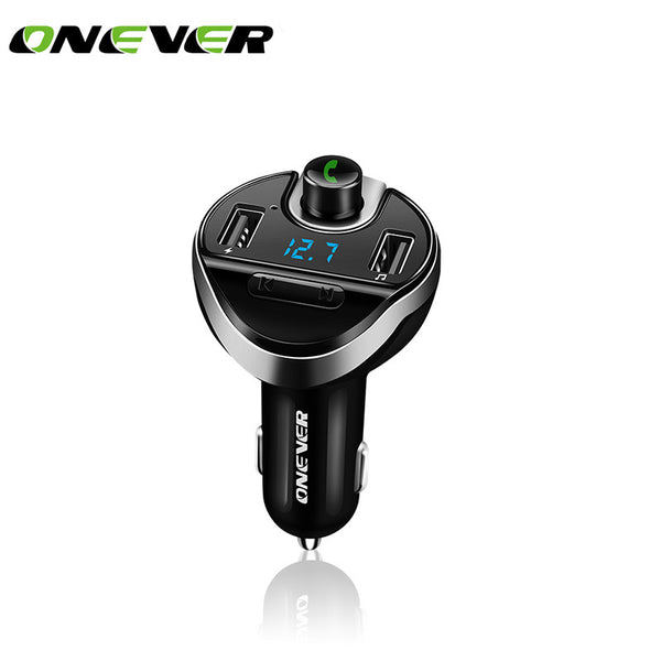 FM Transmitter Bluetooth Wireless FM Modulator Radio Hands Free Car Kit Car MP3 Audio Player with USB Car Charger TF U