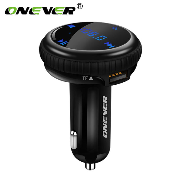 ONEVER Car MP3 Player Wireless Bluetooth Car Kit FM Transmitter Modulator APP GPS Car Finder Locator 2.1A Dual USB Car Charge