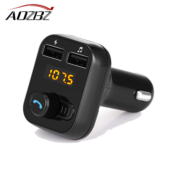 FM Transmitter Bluetooth Car Kit MP3 Player Car Charger with Hands-free Call Modulator with 3.1A USB Car Charger Output