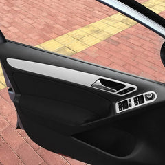 For Volkswagen VW Golf 6 MK6 Door Handle Trim Knob Window Switch Panel Carbon Fiber Film Sticker Decal Car Styling Accessories