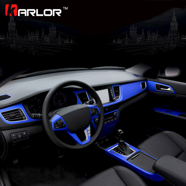 Matte Ice Metallic Vinyl Protection Film Scratch Car-styling Stickers And Decals Central Control Panel Interior Trim 30x100cm