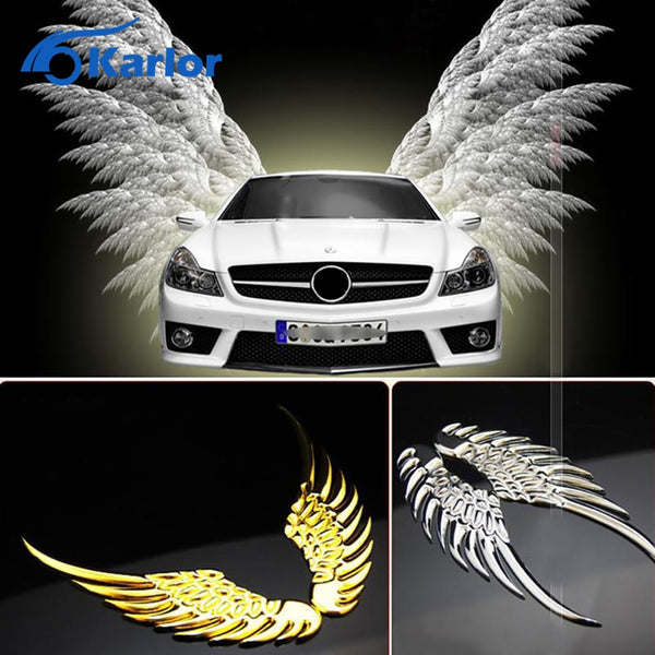 New Popular Cool 3d Beautiful Alloy Metal Angel Hawk Wings Car Emblem Badge Decal Sticker Case car styling accessories