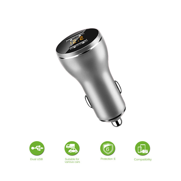 Powstro Dual USB Car Charger Quick Charge 2.0 Mobile Phone Car-charger 2.4A adapter for iPhone7 Samsung Xiaomi Car Phone Charger