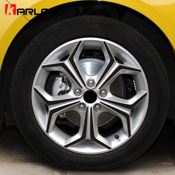 Wheel Hub Rim Carbon Fiber Scratch Protection Vinyl Stickers And Decals Car Styling For Ford Focus 2 3 MK2 MK3 Auto Accessories