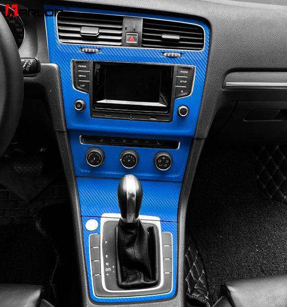 Gear Shift Knob Central Control Panel Carbon Fiber Protection Sticker Decal Car styling For Volkswagen VW Golf 7 MK7 Accessories