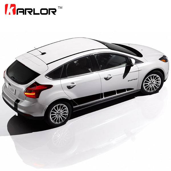 The whole body car styling Parallel to the body stick,sporty stripes garland car stickers ,car stickers for ford focus 2 3