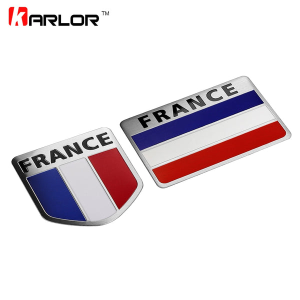 France Map National Flag 3D Car Sticker S line Aluminum Car Styling For Citroen Peugeot Renault Venturi Bugatti Amilcar Heuliez