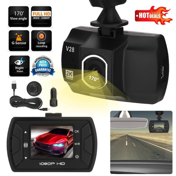 Car DVR Camera 1.5inch TFT 1080P FHD 170 Wide Angle Lens 12MP Video Recorder Night Vision Dash Cam G-sensor Car DVRs Car Styling