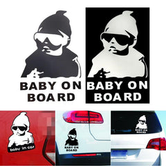 Car Auto Reflective Waterproof Rear Door Reflective Car Sticker Baby on Board Stickers on Car High Quality Car-styling Universal