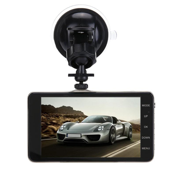 Dual Lens Car DVR 170 Degree 4 inch Full HD 1080P Car DVR Video Recorder Car Camera Dash Cam Support Rear View Backup Camera