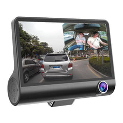 4 inch 3 Lens Car Camera DVR HD 1080P 170 Wide Angle Car DVR Dash G-sensor With Rearview Cam Car Recorder Registrar Car Styling