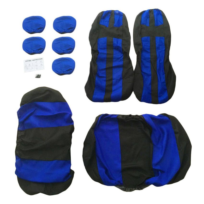 9pcs Car Front&Rear Seat Cover Car Accessories Universal for Five-Seat Cars