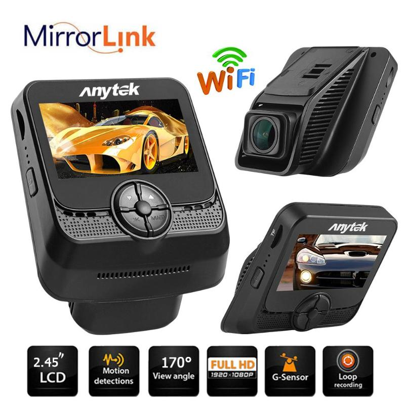 Anytek A50 2.45in Novatek 96658 WiFi 1080P Full HD Car DVR Camera Video Recorder 170 Degree 6G Lens WDR G-sensor Dash Cam New