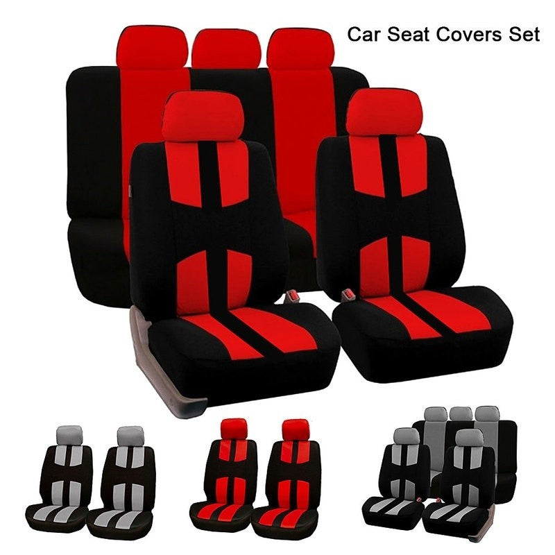 9Pcs Beige Car Seat Covers  Full Set Styling Seat Cover For Interior Accessories