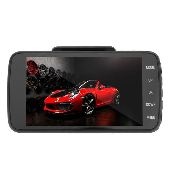 VODOOL 1pc 4 inch  Dual Lens 170 Degree Full HD 1080P Car DVR Video Recorder Camera Motion Detection Car Styling DVR Dash Camera
