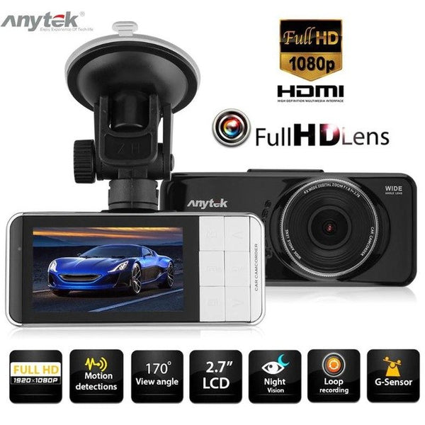 Anytek AT66 2.7 Inch 1080P FHD 170 Degree Lens Car DVR Camera Video Recorder WDR Dash Cam Night Vision G-sensor Registrator New