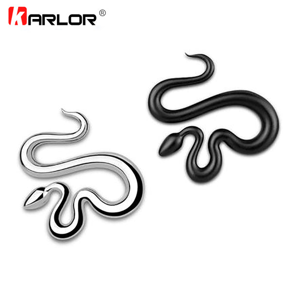 Winding Snake 100% 3D Metal Ho Car Auto Motorcycle Logo Emblem Badge Sticker Silver Gold Black DIY NEW 3 Colors Car Styling