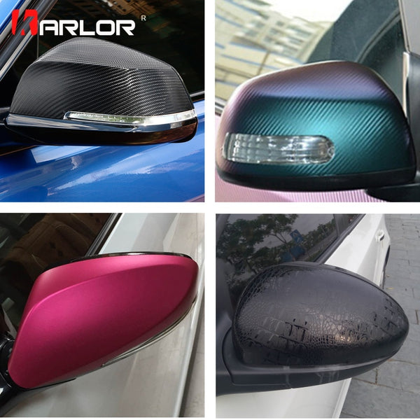 Rearview Mirror Carbon Fiber Matte Ice Vinyl Film Chameleon Crocodile Chrome Glossy Car styling Stickers Automobiles Accessories