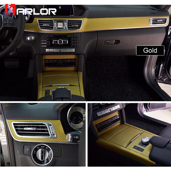 Interior Central Control Panel Carbon Fiber Protection Film Sticker And Decals Car styling For Mercedes W212 E Class Accessories
