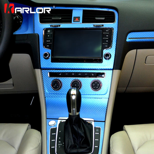 Interior Central Control Panel Carbon Fiber Protection Stickers And Decals Car styling For VW Volkswagen Golf 7 MK7 Accessories