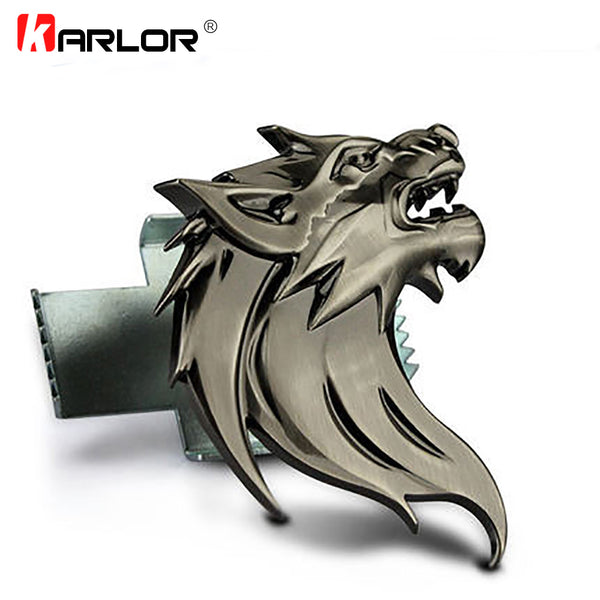 Wolf Head Ho 100% 3D Metal Auto Ho Car Grill Badge Logo Totem Grille Emblem Sticker DIY Gun /Silver /Bronze 3 Colors Car-Styling