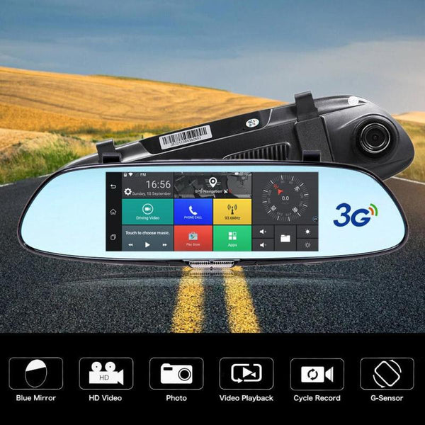 Car DVR Camera Dual Lens 7 inch Dash Cam FHD 1080P with Rear View Camera Auto Registratory 3G GPS Video Recorder Camcorder Hot