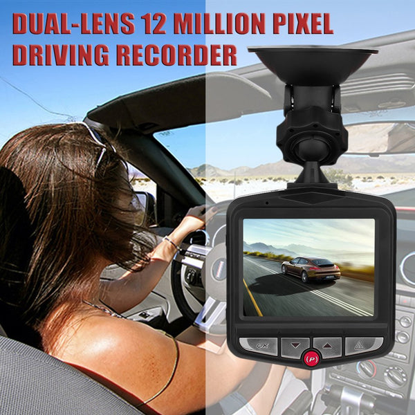 new2.4inch TFT 12 megapixels HD Dual Lens Dashboard Car Vehicle Front Rear Camera Tachograph 1920*1080P Video DVR Cam Recorder