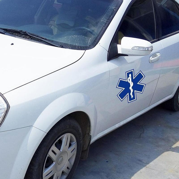 Fashion Star of Life Car Styling Auto Decorative DIY Car Stickers Car Window Decal (Size: Blue  White, Color: Blue)