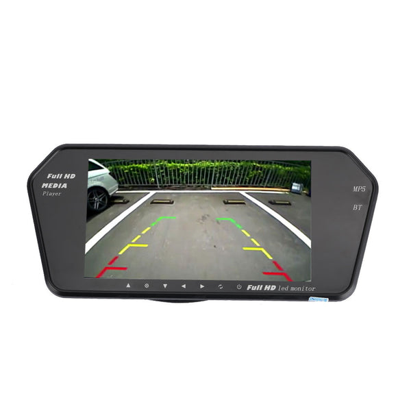 Rearview Camera Car Camera Premium Wide Angle 1080P Car Kit Car Monitor FM Transmitter Night Vision Music Player