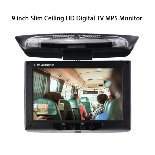Car DVD Monitor Car Monitor Universal 9 Inch 180°Rotate Flip Down Roof Mount Monitor Vehicles Car Displayer Overhead