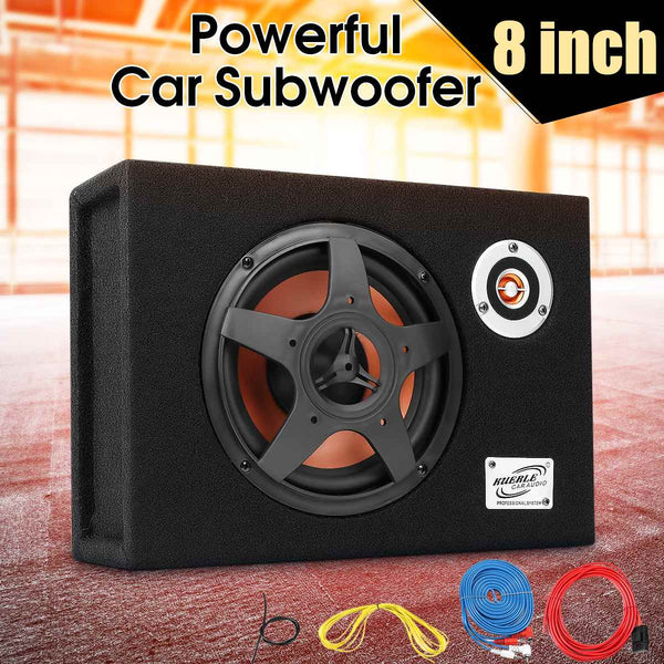 8 Inch 480W Under-Seat Car Subwoofer Modified Speaker Stereo Audio Bass Amplifier Subwoofers Car Audio Auto Speakers