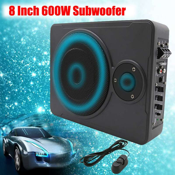8 Inch 600W Audio Active Subwoofer Thin Bass box Sub Amp Amplifier Car Subwoofers Ampfilier Subwoofer in The Car